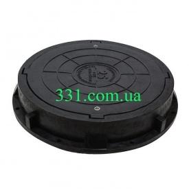 Люк пластмассовый тяжелый (С250) с замком (02890)
