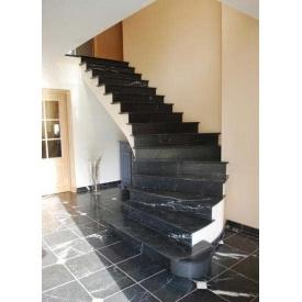 Лестница из мрамора Торос Блек черная