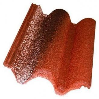 Цементно-песчаная черепица Braas Coppo di Grecia 333х420 мм красная