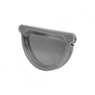 Заглушка ринви АКВАСИСТЕМ цинк-титан 125 мм универсальная