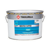 Противокоррозионная грунтовка Tikkurila Rostex super akva 10 л темно-серая