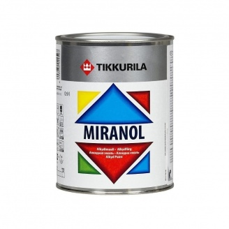 Тиксотропная алкидная эмаль Tikkurila Miranol alkydimaali 0,225 л высокоглянцевая