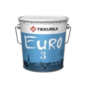 Латексна фарба Tikkurila Euro 3 2,7 л глибоко матова