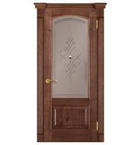 Межкомнатная дверь TERMINUS Caro Модель 47 остекленная орех американский