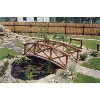 Деревянный мостик ландшафтный