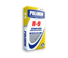 Клеющая смесь для плитки Polimin Керамик-клей П-9 25 кг