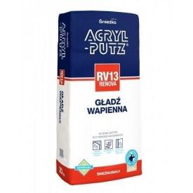 Известковая шпаклевка Sniezka Acryl-putz rv 13 Renova 20 кг белоснежная
