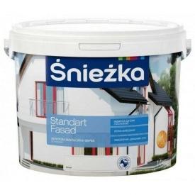Акриловая краска Sniezka Standart fasad 14 кг белая