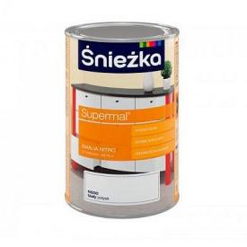 Целлюлозная эмаль Sniezka Supermal Nitro 1 л белая