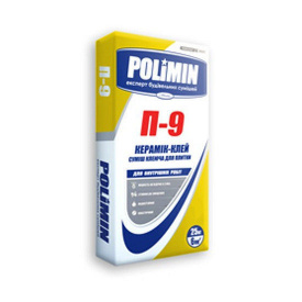 Клеюча суміш для плитки Polimin Керамік-клей П-9 25 кг
