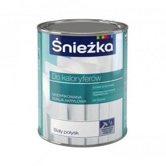 Модифицированная акриловая эмаль Sniezka для радиаторов 2,5 л белая