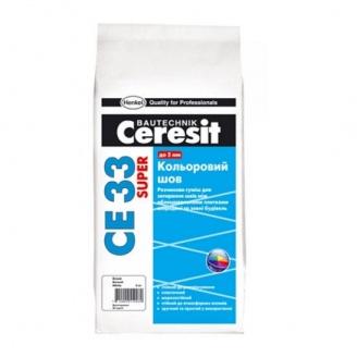 Затирка для швов Ceresit CE 33 Super 2 кг кирпичная