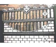 Бетонный секционный забор