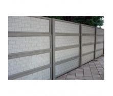 Железобетонный забор 1,5 м серый