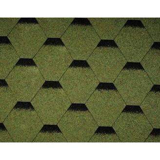 Битумная черепица Icopal Plano Optima 1000*317 мм зеленая