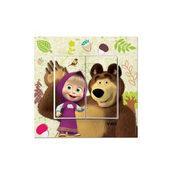 Выключатель двухклавишный VIKO KARRE Kids Маша и Медведь (90962741)