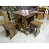 Стіл дерев'яний садовий 750х750х750 мм сосна
