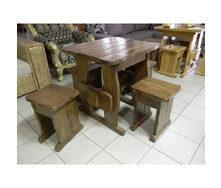 Стол деревянный садовый 750х750х750 мм сосна