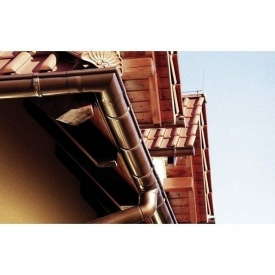 Кут жолоба зовнішній Wavin Kanion 75х160 мм 135 градусів коричневий