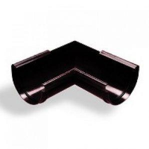 Кут жолоба зовнішній Wavin Kanion 130х260 мм 90 градусів чорний