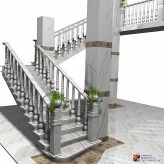 Маршевая лестница из натурального камня