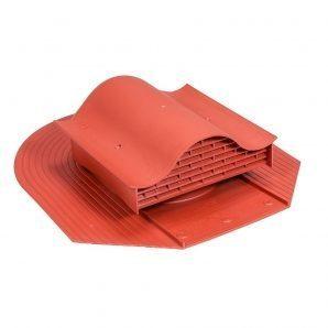 Покрівельний вентиль VILPE HUOPA-KTV 450х378 мм червоний