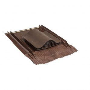 Покрівельний вентиль VILPE UNIVERSAL-KTV з адаптером 532х400 мм коричневий