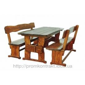 Дачная мебель под старину из массива дерева