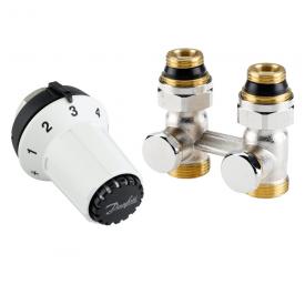 Комплект радиаторных терморегуляторов Danfoss RLV-KS, RAS-CK прямой (013G5275)