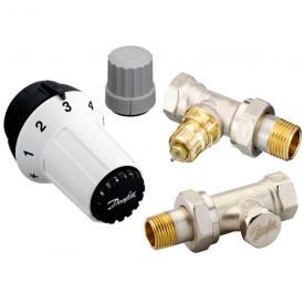 Комплект радіаторних терморегуляторів Danfoss RA-FN, RAS-C, RLV-S прямий (013G5254)