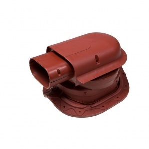 Прохідний елемент VILPE SOLAR CLASSIC 351х266 мм червоний