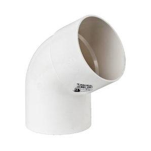 Коліно 60° Profil 75 мм біле