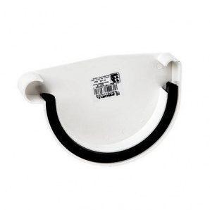 Заглушка ринви ліва Profil L 130 мм біла