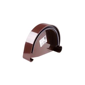 Заглушка желоба левая Profil L 130 мм коричневая