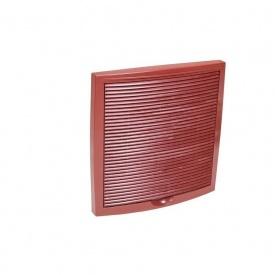 Зовнішня вентиляційна решітка VILPE 375х375 мм червона