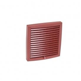 Зовнішня вентиляційна решітка VILPE 150х150 мм червона
