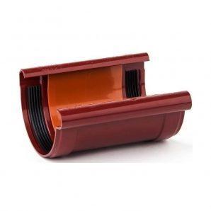 З'єднувач ринви Profil 130 мм червоний