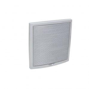 Наружная вентиляционная решетка VILPE 375х375 мм светло-серая