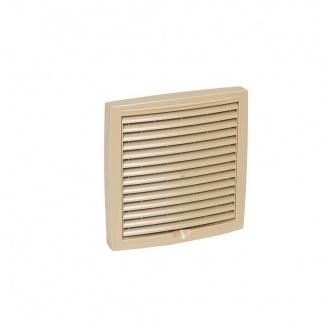 Наружная вентиляционная решетка VILPE 150х150 мм бежевая