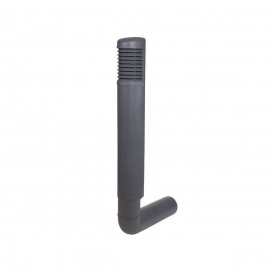 Цокольный дефлектор VILPE ROSS 200 мм серый