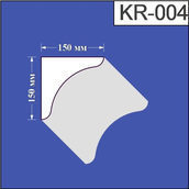 Карниз из пенополистирола Валькирия 150х150 мм (KR 004)