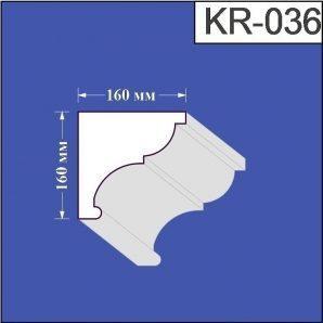 Карниз з пінополістиролу Валькірія 160х160 мм (KR 036)
