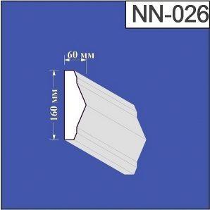 Наличник з пінополістиролу Валькірія 60х160 мм (NN 026)