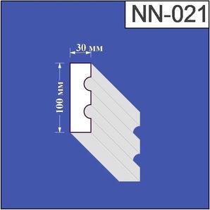 Наличник з пінополістиролу Валькірія 30х100 мм (NN 021)