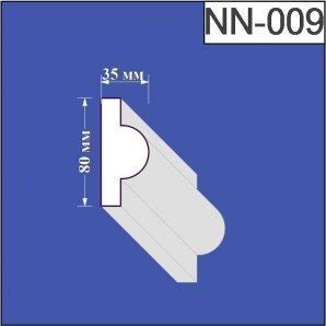 Наличник з пінополістиролу Валькірія 35х80 мм (NN 009)