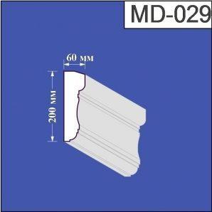 Молдинг з пінополістиролу Валькірія 60х200 мм (MD 029)