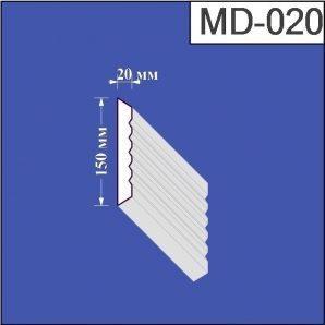 Молдинг з пінополістиролу Валькірія 20х150 мм (MD 020)