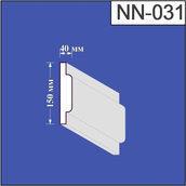 Наличник з пінополістиролу Валькірія 40х150 мм (NN 031)