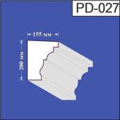 Підвіконня з пінополістиролу Валькірія 155х200 мм (PD 027)