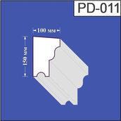Підвіконня з пінополістиролу Валькірія 100х150 мм (PD 011)